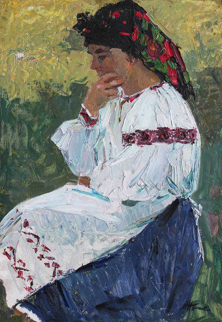 , 'Woman in Ukrainian Dress,' 1960, Paul Scott Gallery & galleryrussia.com