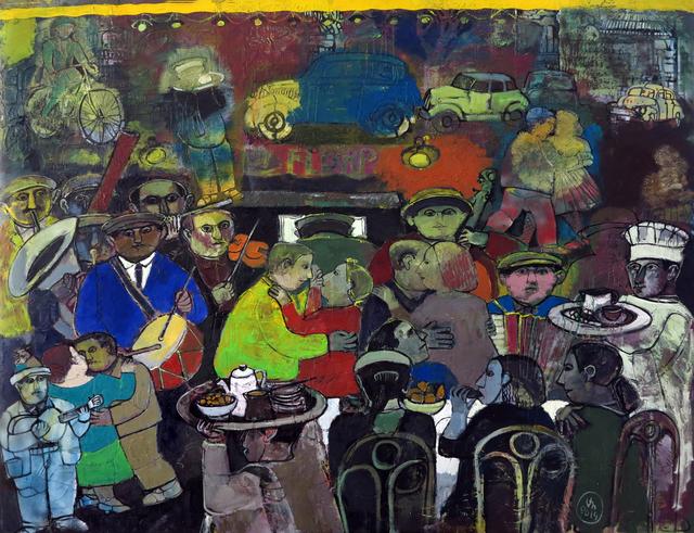 ", '""Outdoor Café"" /""Gazino"",' 2014, Galeri 77"