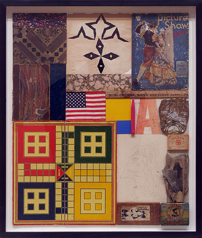 Peter Blake, 'Homage to Robert Rauschenberg No. 6 'The Queen of Germany' ', 2011, Mixed Media, Collage with found objects, Tanya Baxter Contemporary