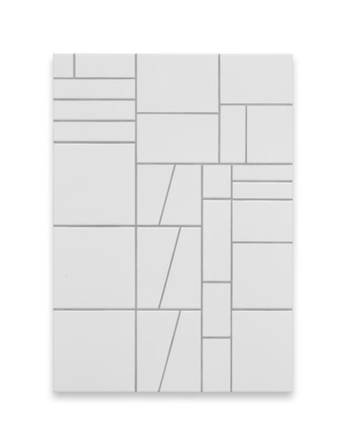 Simon Mullan, 'Ludovico', 2018, Painting, White (matt) tiles with Manhattan Grey grout, DITTRICH & SCHLECHTRIEM