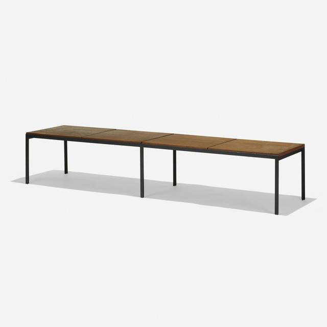 Florence Knoll, 'T Angle bench', 1956, Design/Decorative Art, Walnut, enameled steel, Rago/Wright
