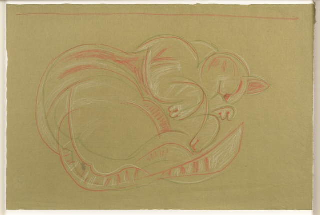 , 'Sleeping Cat,' ca. 1960s, Osborne Samuel