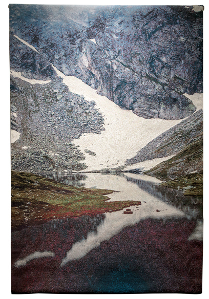 Elena Dorfman, 'Valbona 2', 2018, Textile Arts, Cotton jacquard tapestry with metallic threads, Modernism Inc.