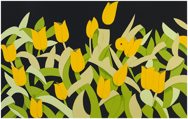 Alex Katz, 'Yellow Tulips', 2014, Nikola Rukaj Gallery