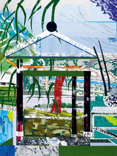 Jin Jinghong 金景鸿, 'Pavilion', 2018, Painting, Acrylic on Canvas, Asia Art Center