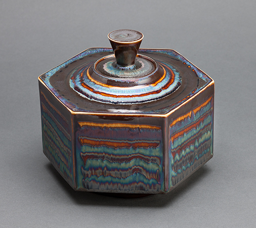 , 'Hexagon box, blue waves glaze,' , Pucker Gallery