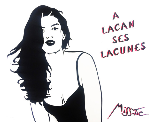 Miss Tic, 'A Lacan ses lacunes', 2015, Galerie Martine Ehmer