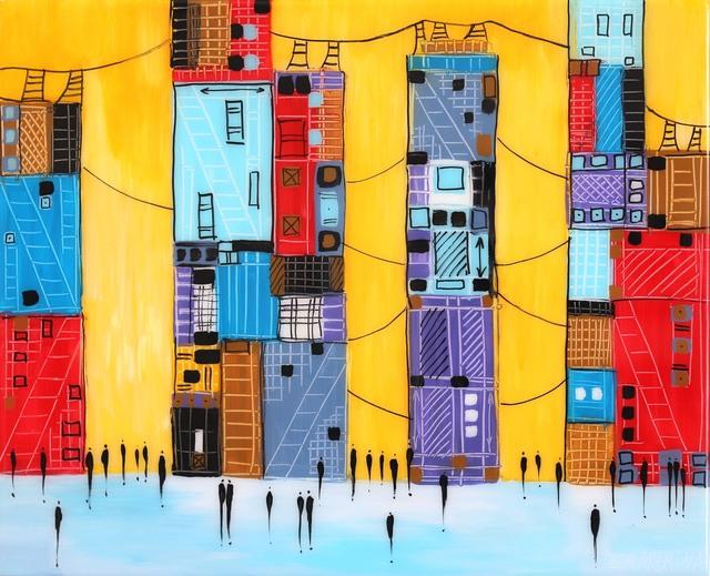 , 'Yellow Skyline,' 2019, Artspace Warehouse