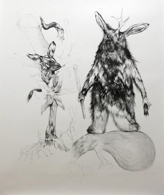 , 'Intruder on Bubble plant,' 2014, Christine König Galerie