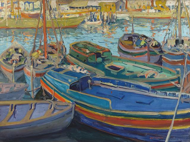 , 'Fishing Boats,' ca. 1920, M.S. Rau Antiques