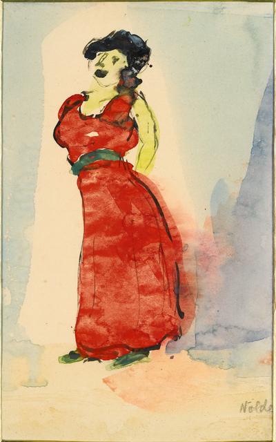, 'Cabaret Sängerin (Cabaret Singer),' 1910-1911, Galerie Herold