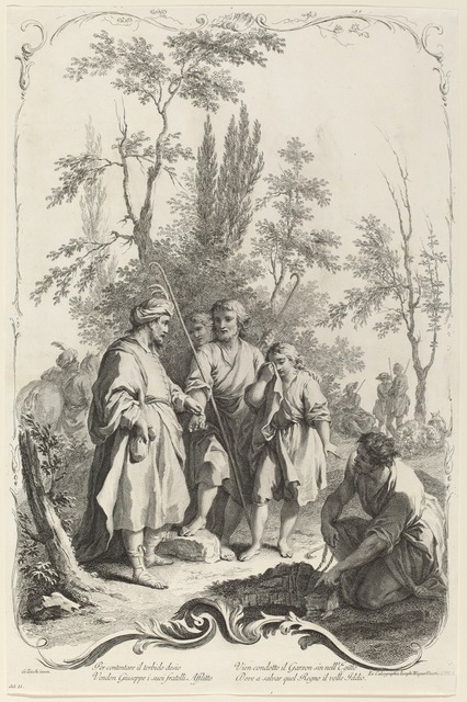 Joseph Wagner (publisher) after Giuseppe Zocchi, 'Joseph and His Brothers', ca. 1745, National Gallery of Art, Washington, D.C.