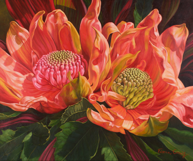 Fiona Craig, 'Sunlit Waratahs', 2014, Wentworth Galleries
