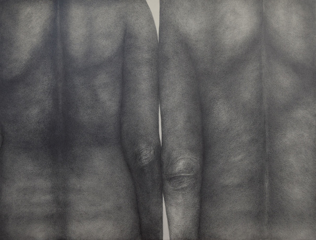 Diana Quinby, 'Couple de dos II', 2019, Drawing, Collage or other Work on Paper, Crayon graphite sur papier, Galerie Arnaud Lefebvre