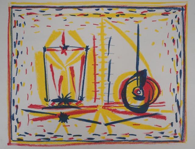Pablo Picasso, 'Composition cubiste au verre et à la pomme', 1946, Plazzart