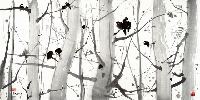 Wu Guanzhong, 'No Wind', 2000-2005, Print, Silk Screen Print, Yang Gallery