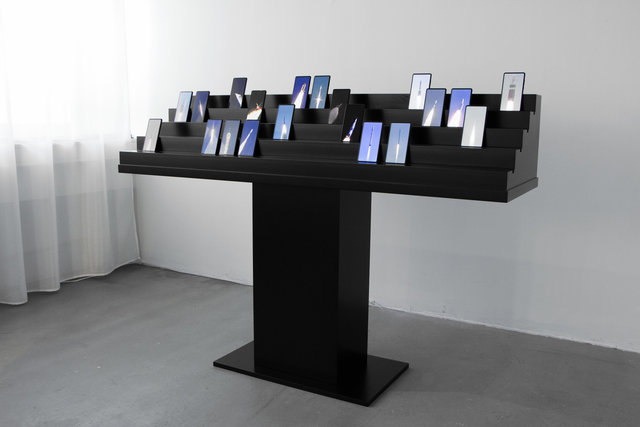 Humans Since 1982, 'Collection of Motion: Rockets (Hype Hope)', 2019, Other, Video, Audio, Smartphones, Coated Aluminum, Electronic Components, Gallery ALL