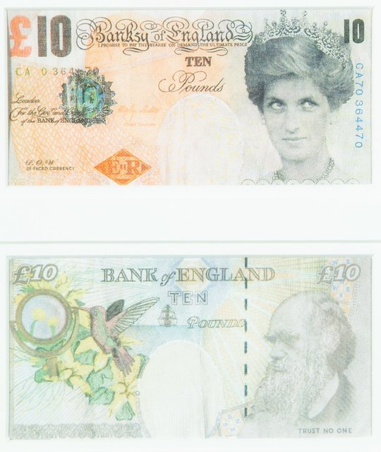Banksy, 'Di-Faced Tenner, 10 GBP Note (2 works)', 2005, Heritage Auctions