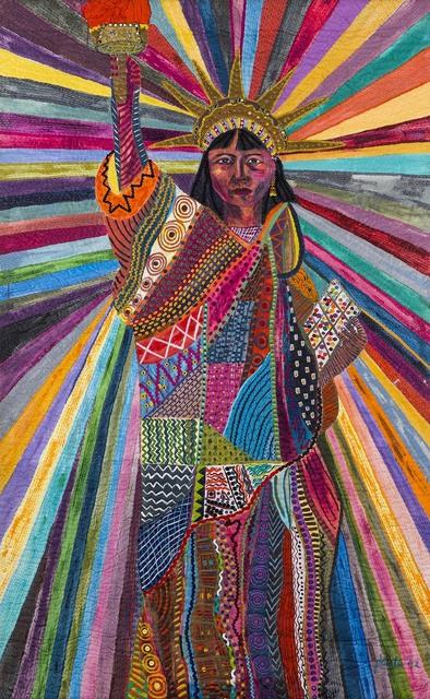 , 'L.A. Liberty,' 1992, Pacita Abad Art Estate