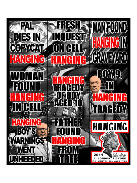Gilbert and George, 'Hanging', 2011, Alfonso Artiaco