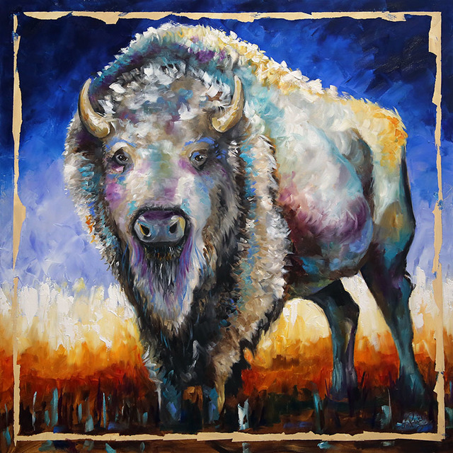 Laurie Pace, 'Buffalo White Night', 2019, Mirada Fine Art