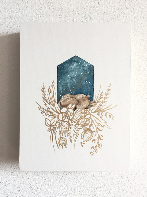 , 'Asleep with the Stars - Deer,' 2017, Flower Pepper Gallery