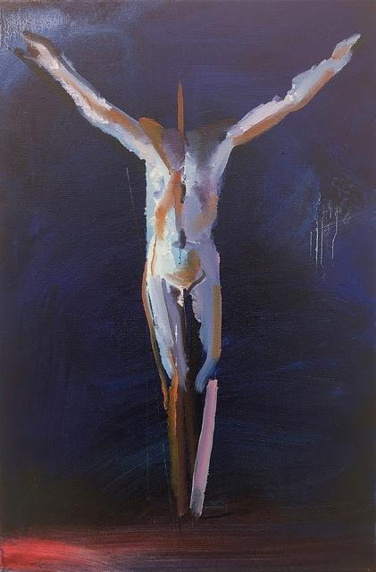 , 'Figur auf Blau,' 2019, Josef Filipp Galerie