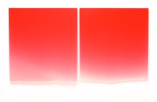 , '1/10-13/12 (Large Red Diptych),' 2012, Brian Gross Fine Art