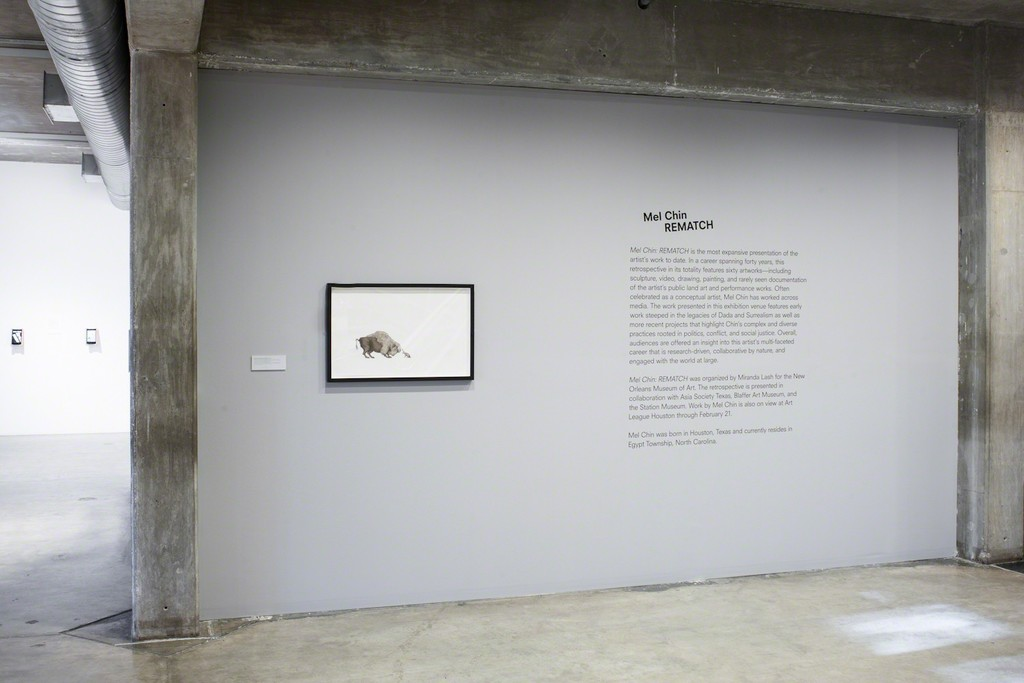 """Installation view of """"Mel Chin: Rematch"""" at the Contemporary Arts Museum Houston, 2015. Photo: Paul Hester. © Contemporary Arts Museum Houston, 2015."""