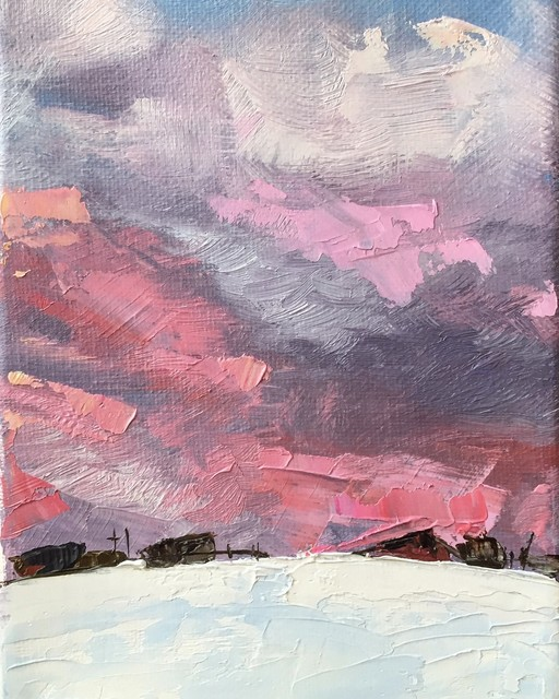 Leigh Ann Van Fossan, 'Spring Pastels in a Winter Sky', 2020, Painting, Oil, Abend Gallery