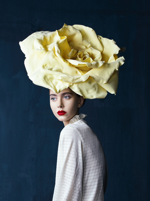 , 'Young beautiful woman with big flower hat ,' , Getty Images Gallery
