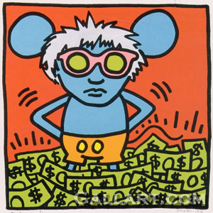Keith Haring, 'Andy Mouse I', 1986, Marcel Katz Art