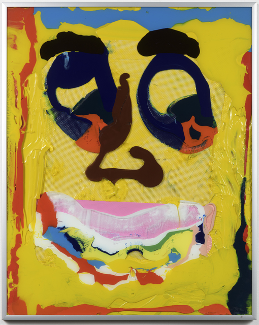 """, 'Ikea abstractions/portraiture (in this case portraiture) #110 """"That yellow boy on the side, who's that guy again?"""" ,' 2016, Richard Heller Gallery"""