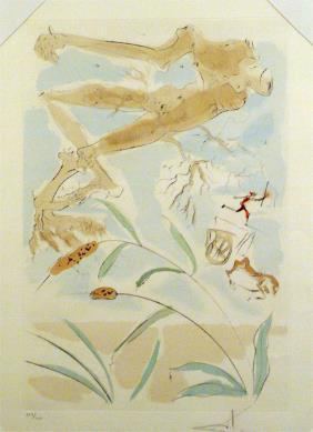 "Salvador Dalí, 'The Oak and the Reed - from the suite ""Le Bestiaire de la Fontaine""', 1974, Puccio Fine Art"