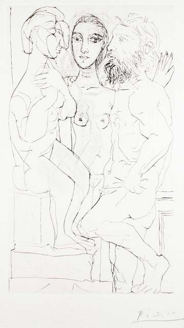 Pablo Picasso, 'Sculpteur, Modèle et Sculpture Assise', 1933, Wallector