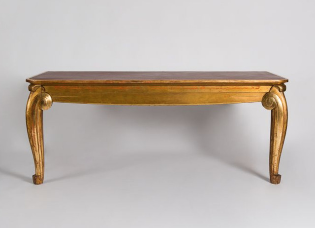 Louis Süe and André Mare, 'Rare Console Table', ca. France-1920s, Design/Decorative Art, Carved and gilt-wood, leather top, Maison Gerard