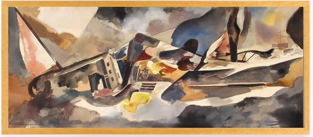 , 'Cubist Composition with Landscape,' 1930, Benjaman Gallery Group