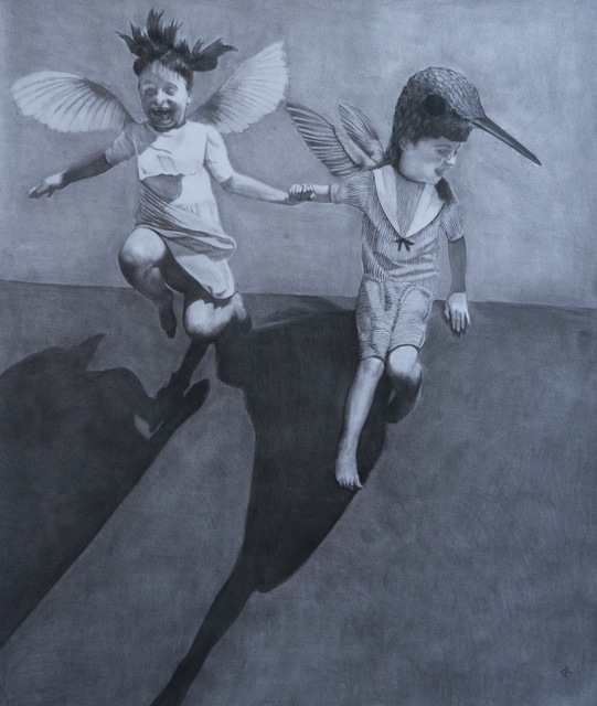 Beth Carter, 'If these wings should fail me', Painting, Charcoal on paper, Hugo Galerie
