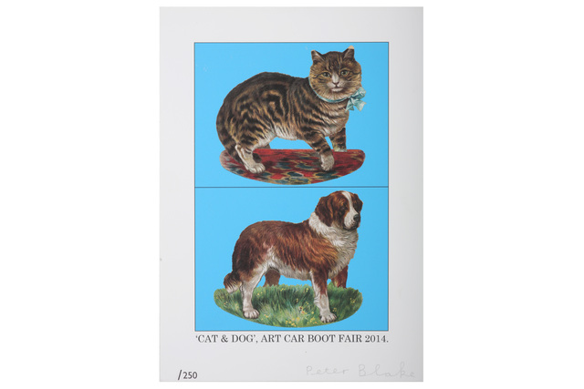 Peter Blake, 'Cat & Dog', 2014, Chiswick Auctions