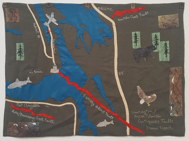 , 'Washington / British Columbia Earthquake Faults,' 2011, Craig Krull Gallery