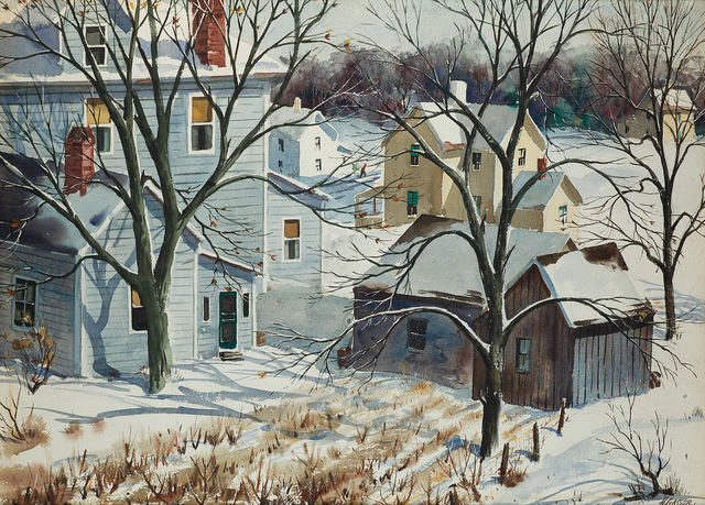 , 'Houses in a Snowy Landscape,' , Questroyal Fine Art