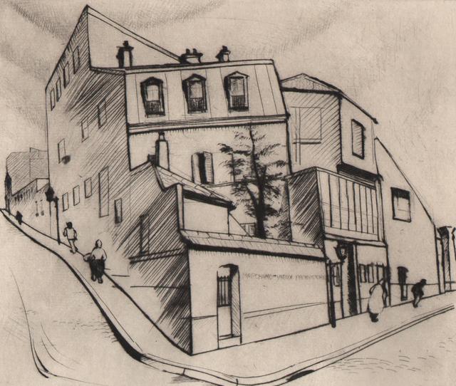 Stanley William Hayter CBE, 'Rue Dareau ', 1927, Print, Drypoint, Dolan/Maxwell