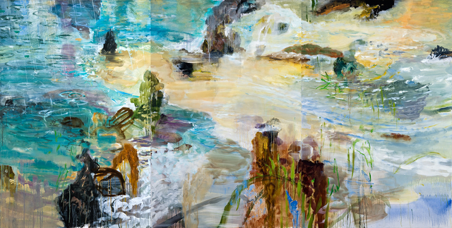 , 'Shoreline Rain (Triptych),' 2005-2008, RYAN LEE