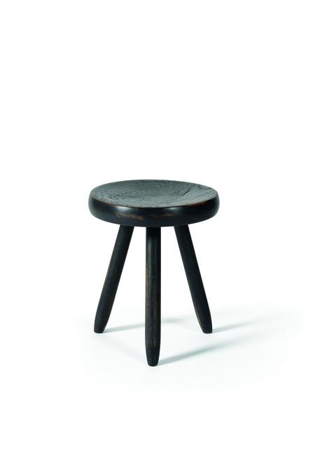 Charlotte Perriand, 'Black Berger stool in oak', vers 1953, Leclere