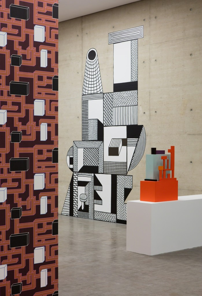 Installation view: Nathalie Du Pasquier. BIG OBJECTS NOT ALWAYS SILENT, Kunsthalle Wien 2016, Photo: Stephan Wyckoff