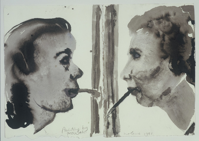 , 'Painting by mouth (2 pieces) ,' , Galerie Isabella Czarnowska