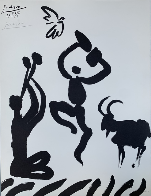 Pablo Picasso, 'Musicien, danseur, chèvre et oiseau', 1959, Van der Vorst- Art