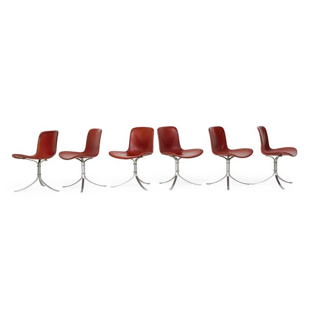 Poul Kjærholm, 'Set Of Six Pk9 Chairs, Denmark', 1960s, Rago/Wright