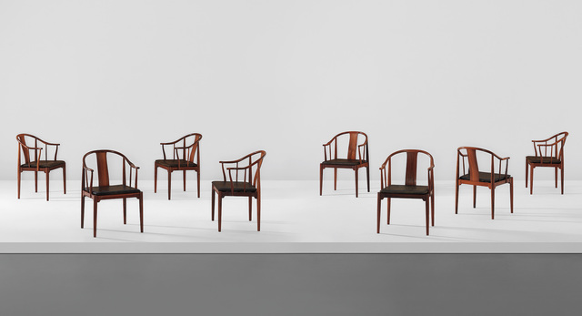 "Hans Jørgensen Wegner, 'Set of eight ""China"" chairs, model no. 4283', designed 1944-executed 1968, Phillips"