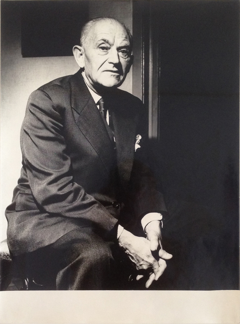 , 'Henri Daniel Kahnweiler (Art Dealer),' 1956, Galerie Julian Sander